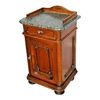 Antique Vanity Cabinet Hand Italian carved with Top Drawer Marble top