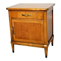 Mid Century Modern Vanity Cabinet with Top Drawer bottom door Real Solid Walnut