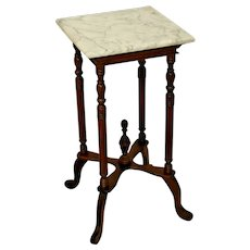 Vintage Marble top plant stand Victorian Style table