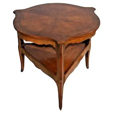 Baker Fine Furniture Shield Top Side Table Two Tier solid walnut