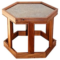Vintage John Keal for Brown Saltman California Hexagon Table Mid Century Modern