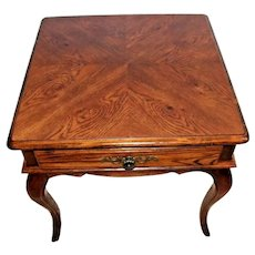 Rare:HICKORY CHAIR CO. Country French 1 Drawer Occasional Lamp Table #2610-84