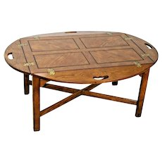 Vintage Drexel Butler's Coffee Table original Oak Patina