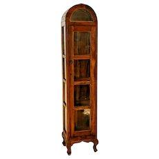 Vintage China Cabinet Curio Display Nova Furniture Plantation Wood Rustic Locks