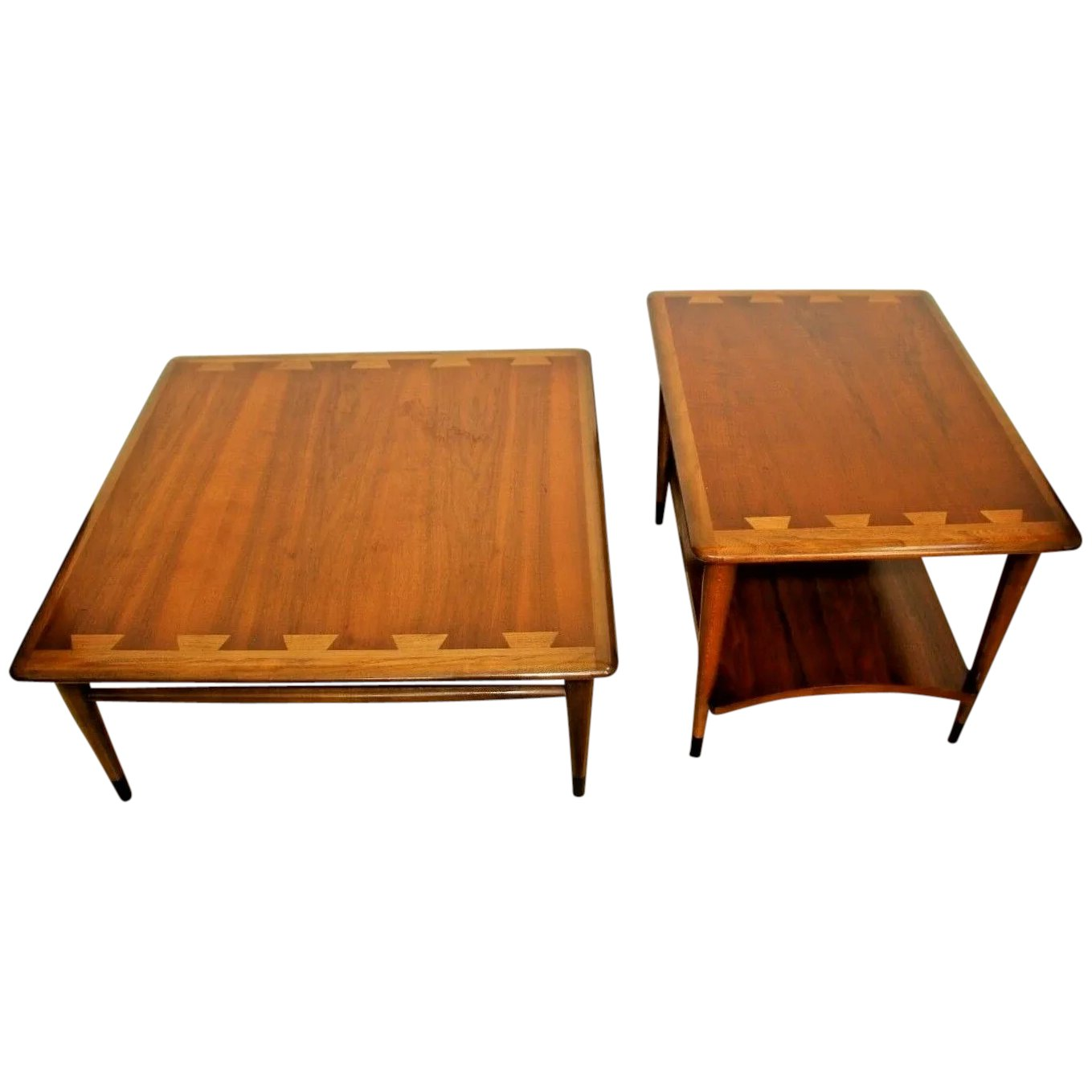 Image of: Lane Acclaim Mid Century Modern Coffee And End Tables Set Of Two At Melrose Vintage And Antique Furniture Ruby Lane