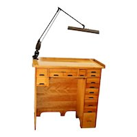Vintage Arts and Crafts Desk custom made 15 drawers Jewelry work station