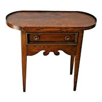 Vintage Small side Table with drawer Oval french country by Brandt Furniture USA