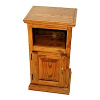 Vintage small Cabinet and Bookshelf with bottom storage lamp table solid Oak