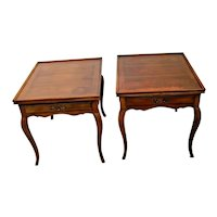 Vintage Pair French Nightstands Side Tables Matching drawer Wm. A Berkey Co.
