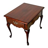 Vintage Nightstand Thomasville Furniture Chippendale Drawer Occasional Lamp Table