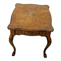 DREXEL Heritage Lamp Table Single Drawer Walnut Hard to find model 82-320 982