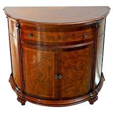 Vintage Cabinet Demilune Dresser Vanity Commode half circle Italian console