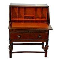 Antique Arts and Crafts Mission Style Tiger Oak Drop Front Desk Secretary