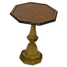 Vintage Brandt Plant Stand Jardiniere lamp table pedestal Octagon Walnut top