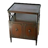 Victorian Library Table with shelf and two door bottom cabinet solid Mahogany