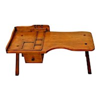 Vintage Cobblers Bench Bed Desk Lap Organizer American Maple Hand crafted Drawer