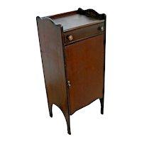 Vintage Music Cabinet or Record Cabinet Removable shelves top drawer solid Oak