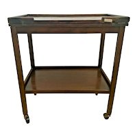 Antique Serving table By The Chevin Trolley Server rolling, Expanding flip top