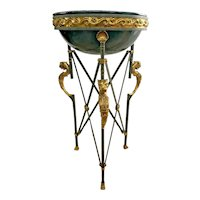 Maitland Smith Torchere Limited edition #227 Neoclassical Egyptian Revival plant stand