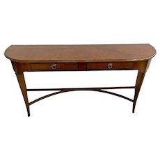 Vintage Drexel Fine Furniture Sofa Table Italian Style Solid Walnut Console