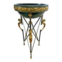 Maitland Smith Torchere edition #227 Neoclassical Egyptian Revival Bowl repaired