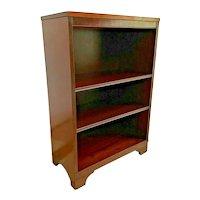 Mid Century Sligh Lowry Bookcase Slimline Two adjustable shelves Walnut 1A