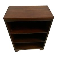 Mid Century Sligh Lowry Bookcase Slimline Two adjustable shelves Walnut 1B