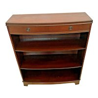 Vintage Mid Century Bookcase Three shelves One Top drawer solid Walnut