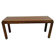 Vintage Lane Alta Vista Sofa Table Console Solid Walnut Modern Mid Century