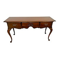 Vintage Sofa Table by Thomasville Furniture Three Drawers Chippendale