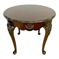 Vintage Sherill Furniture Coffee Table Top Drawer Round Chippendale