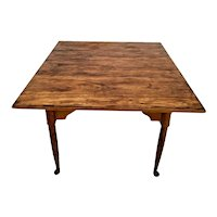 Vintage Leopold Stickley Original Cherry Valley Square Table Colonial Style