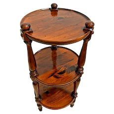 Vintage Ethan Allen Plant Stand Jardiniere three tier small round table