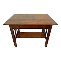 Stickley Brothers Mission Arts & Crafts Oak Desk Library Table drawer Authentic