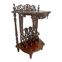 Vintage  Victorian  Style Table Magazine Rack bottom storage Chinese Chippendale