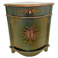Vintage Corner Cabinet Vanity with top drawer and Bottom Double Doors