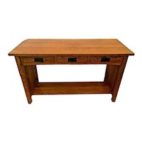 Arts and crafts Sofa Table Console By Michaels Furniture Three cedar drawers and Bottom Shelf