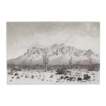 Superstition Mountain, Apache Trail, Arizona, George Elbert Burr vintage circa  1925 Original Signed Framed Etching