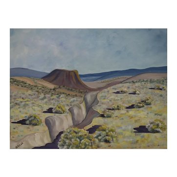 Jozef Bakos Original Signed Oil Painting, Near Taos (New Mexico)