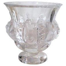 Lalique Crystal Vase Dampierre