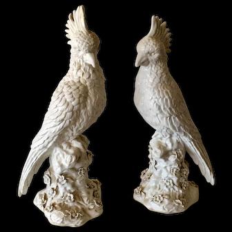 Pair of Vintage Italian Porcelain Birds