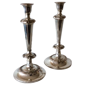 Pair of 19th Century Sheffield Candlesticks