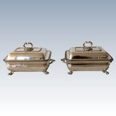Pair of 19th Century Sheffield Silver Plated Serving Dishes