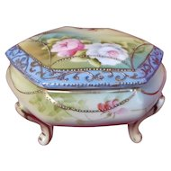 Japanese hand-painted porcelain IE&C Company Trinket Box and Lid