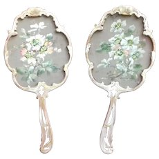 Pair of French Rococo Style Face Screens
