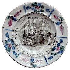 Antique English Pearlware Child's Plate circa 1820