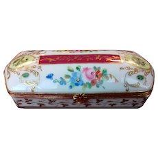 Le Tallec Trinket Box Signed Porcelain Paris 1961