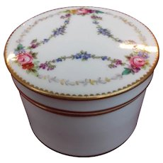 Minton Porcelain Trinket Box - Hand-painted with Gilding 1912-1950