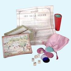 Antique Miniature Farm Game - Mauclair-Dacier Paris