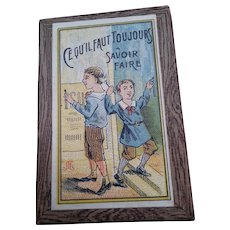 c1910 French Doll Sized Miniature Boxed Game of Skill - Free Shipping